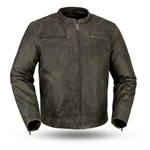 Vintage Cowhide Leather Scooter Jacket