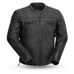 Men's Premium Tall Leather Motorcycle Jacket