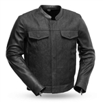 Mens Leather & Denim Jacket, First Classics, Cutlass