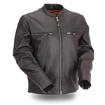 First Classics Men's Leather Motorcycle Jacket