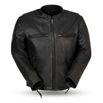 Lightweight Leather Motorcycle Jacket by First MFG