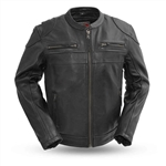 First Classics Leather Scooter Motorcycle Jacket