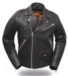 Distressed Leather Motorcycle Jackets: First Classics