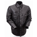 Lightweight Biker Leather Shirt for Men