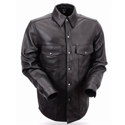 Men's Lightweight Biker Leather Shirt