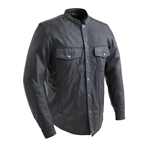 Lightweight Biker Leather Shirt by First Classics