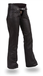 Womens Leather Motorcycle Chap Pants First Classics