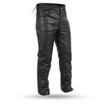 Mens Leather Motorcycle Over Pants: Biker Style