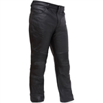 Mens Leather Motorcycle Riding Pants