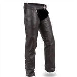 Jean Style Leather Motorcycle Chaps: Soft Cowhide