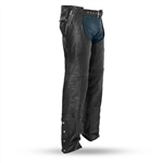 Premium Leather Motorcycle Chaps - Thermal Lining - Unisex