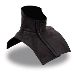 Genuine Leather Neck and Chest Warmer for Bikers
