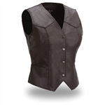 Classic Womens Leather Motorcycle Vest