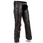 First Classics Leather Motorcycle Chaps - Rally Riding Pants