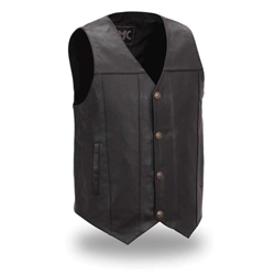 Buffalo Nickel Snap Leather Motorcycle Vests