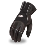 Racing Motorcycle Gloves, Leather & Mesh Biker Style