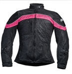 Women's Mesh Motorcycle Jacket With Armor