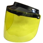 Flip-Up Yellow Motorcycle Helmet Face Shield