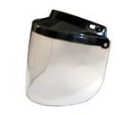 Flip-Up Clear Motorcycle Helmet Face Shield