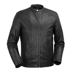 Lightweight Lambskin Leather Racer Jacket