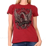 All American Ladies Biker T-Shirt