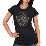 Vintage Motorcycle Ladies Biker T-Shirt
