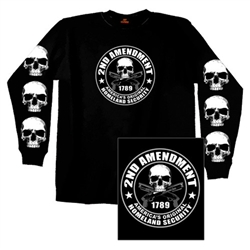 Long Sleeve Biker T-Shirt: second Amendment