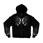 Biker Shirts: Tribal Skull Hoodie - Zip-Up