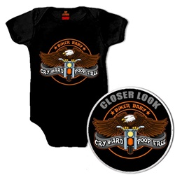 Motorcycle Baby Clothes: Cry Hard - Poop Free