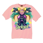 Girls Motorcycle T-Shirt: Toddler Biker