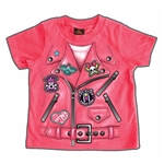 Girls Motorcycle Jacket T-Shirt: Toddler Biker