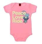 Baby Motorcycle Clothes: Girls Peace Love Ride