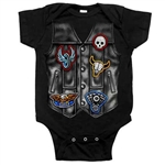 Baby Boy Biker Motorcycle Vest Creeper Outfit