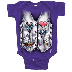 Baby Motorcycle Clothes: Girls Biker Vest