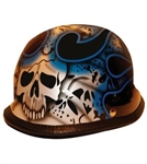 German Novelty Motorcycle Helmets: Blue Skulls