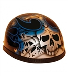 Blue Skull Novelty Motorcycle Helmets