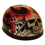 Red Skull Novelty Motorcycle Helmet