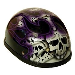 Purple Flames Skull Novelty Motorcycle Helmets 20 Off
