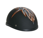 Women's Novelty Motorcycle Helmet - Orange Perewitz