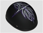 Women's Motorcycle Helmets: Novelty Purple Tribal