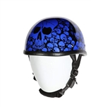 Eagle Novelty Motorcycle Helmet: Blue Boneyard