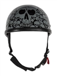 Skull Novelty Motorcycle Helmets - Gray Boneyard