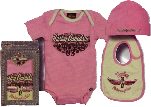 8ad8b0b9a76 Harley Davidson Baby Clothes - Girls Gift Set - Onsie