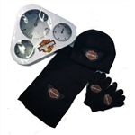 Harley-Davidson Boys Winter Hat, Gloves & Scarf Gift Set