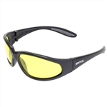 Photochromatic Mens Motorcycle Glasses: Yellow Lens