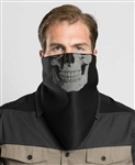Motorcycle Face Mask: Reflective Skull Fleece Lined