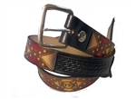 Rebel Flag Custom Leather Fire Fighter Belt: American Made