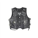 Little Kids Leather Motorcycle Vests