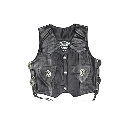 Toddler Leather Motorcycle Vests Littlest Concho