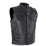 Kids Motorcycle Vest: Sons Of Anarchy Leather Club Style